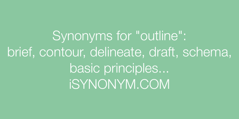 Synonyms outline