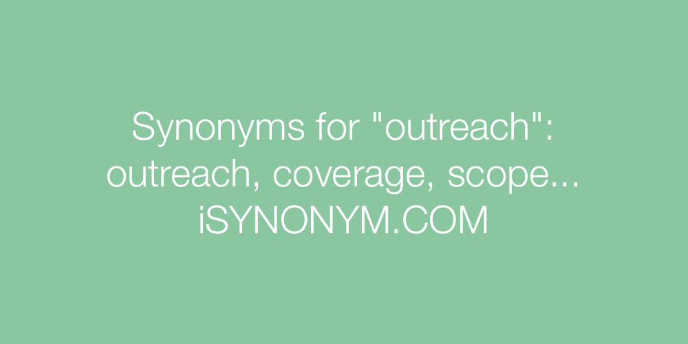 Synonyms outreach