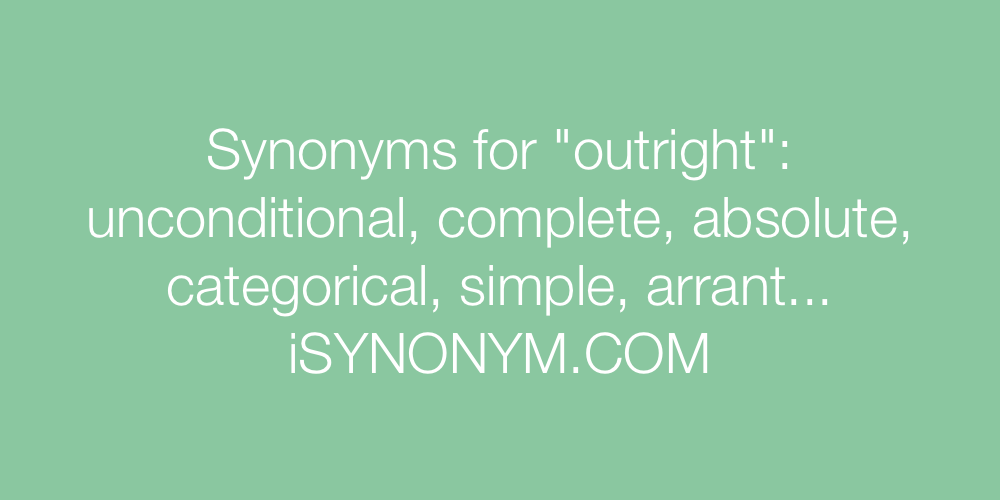 Synonyms outright