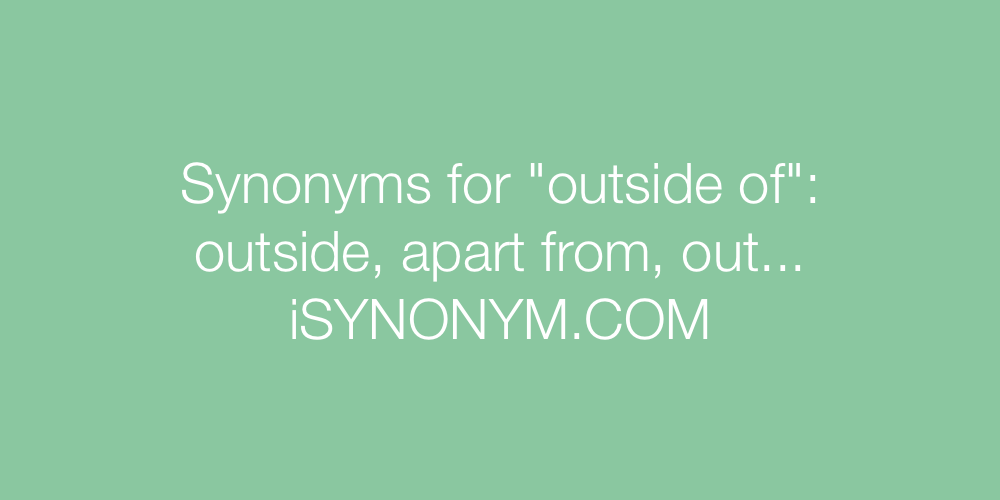 Synonyms outside of