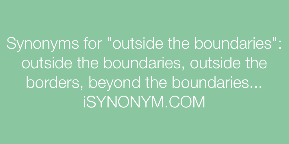 Synonyms outside the boundaries