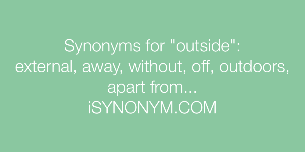 Synonyms outside