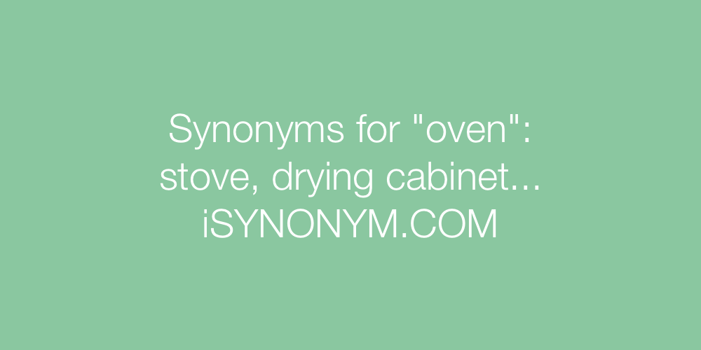 Synonyms oven