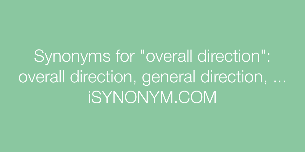 Synonyms overall direction