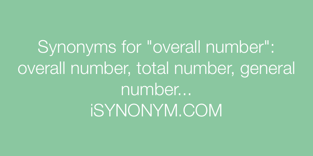 Synonyms overall number