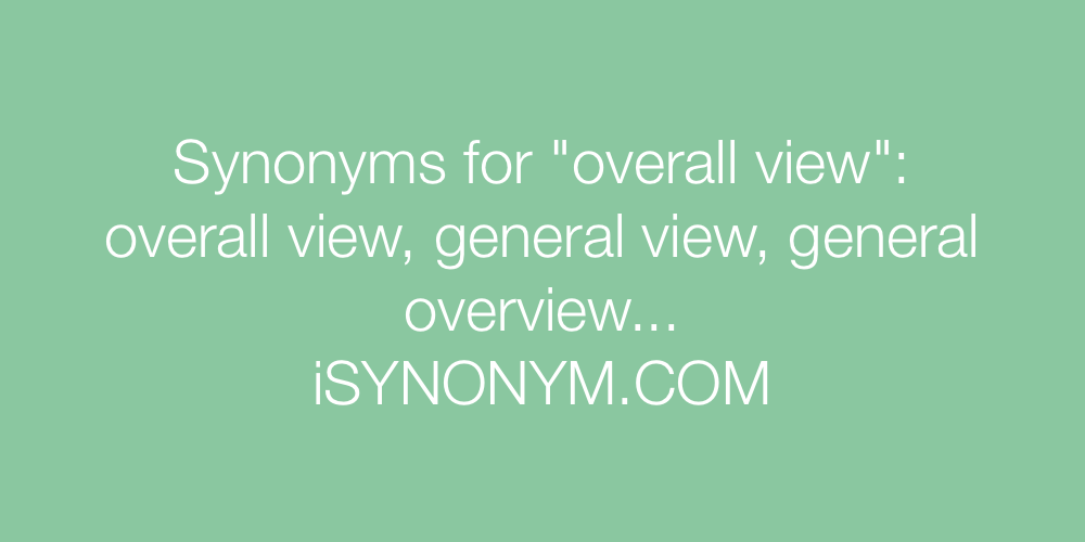 Synonyms overall view
