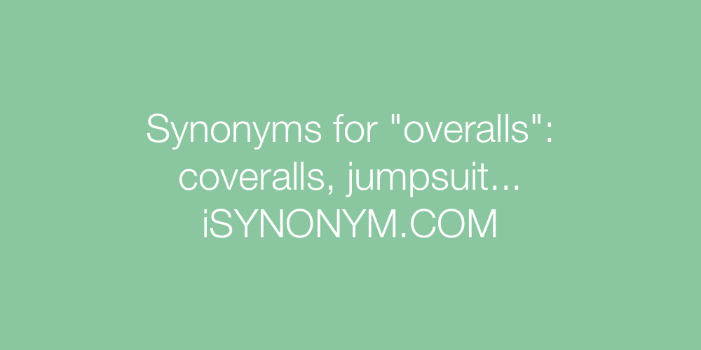 Synonyms overalls