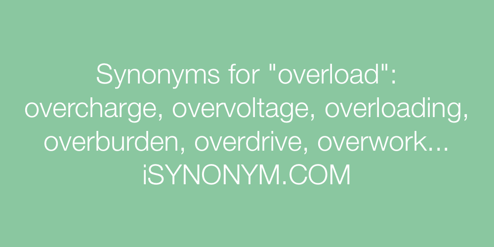 Synonyms overload
