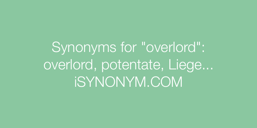 Synonyms overlord