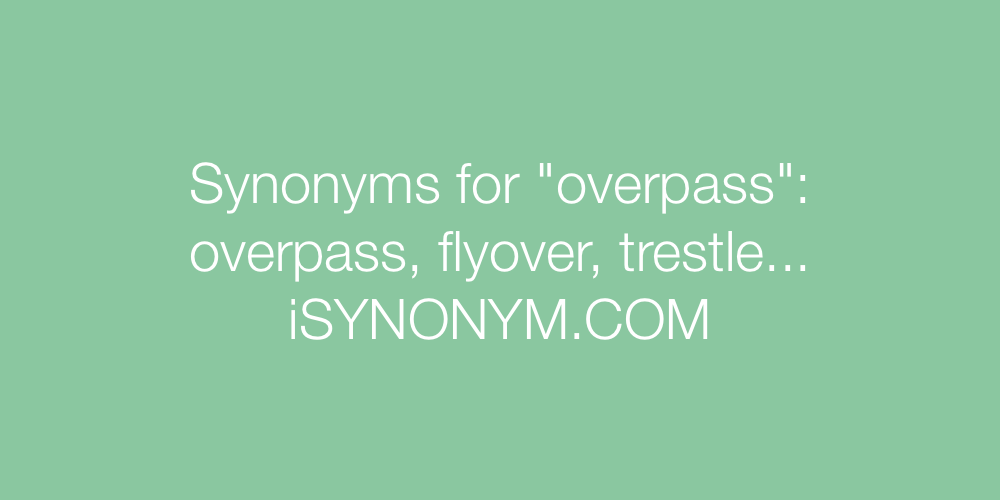 Synonyms overpass