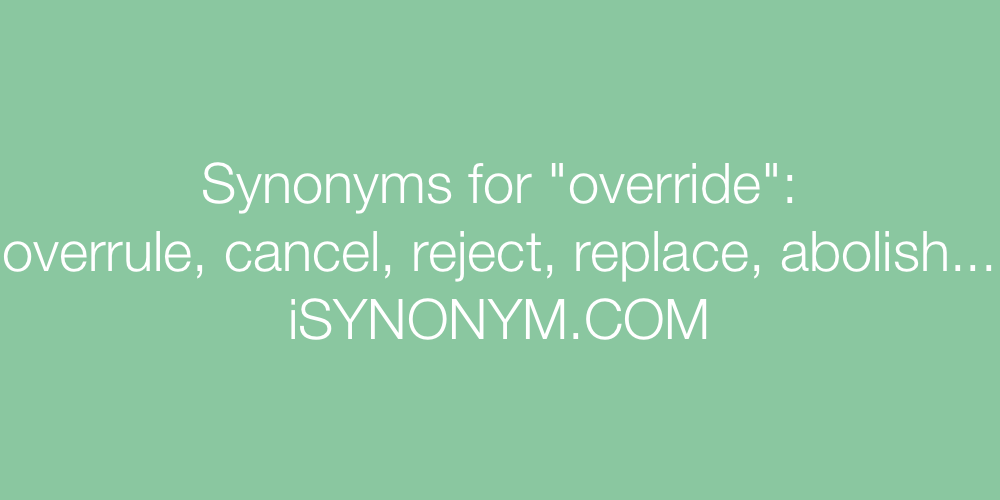 Synonyms override