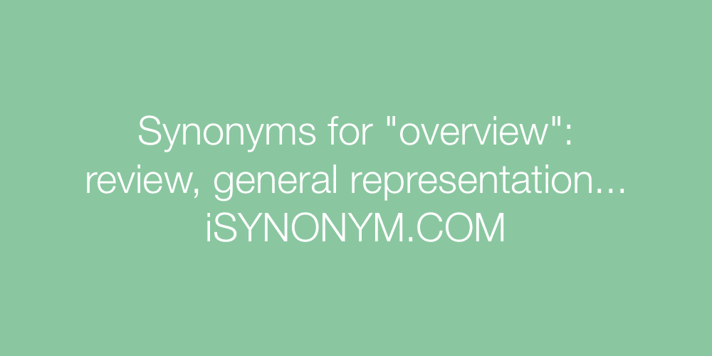 Synonyms overview