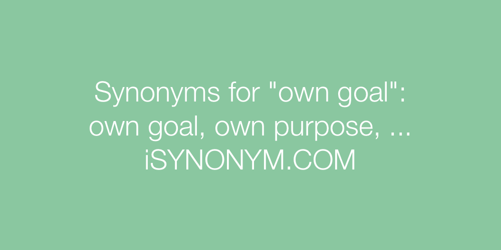 Synonyms own goal