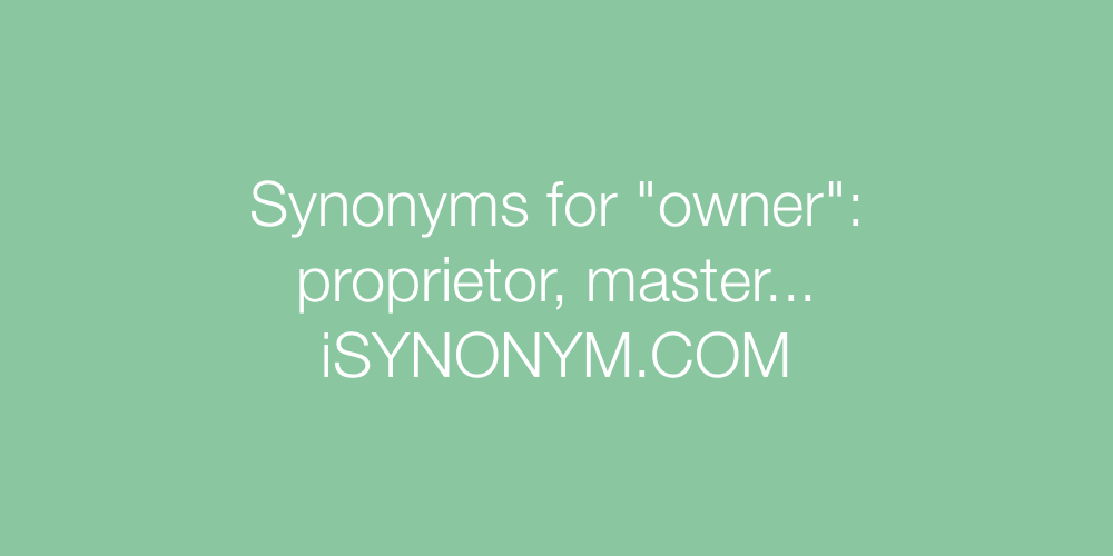Synonyms owner