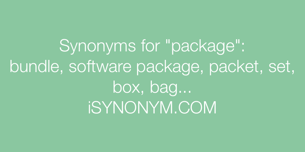 Synonyms package