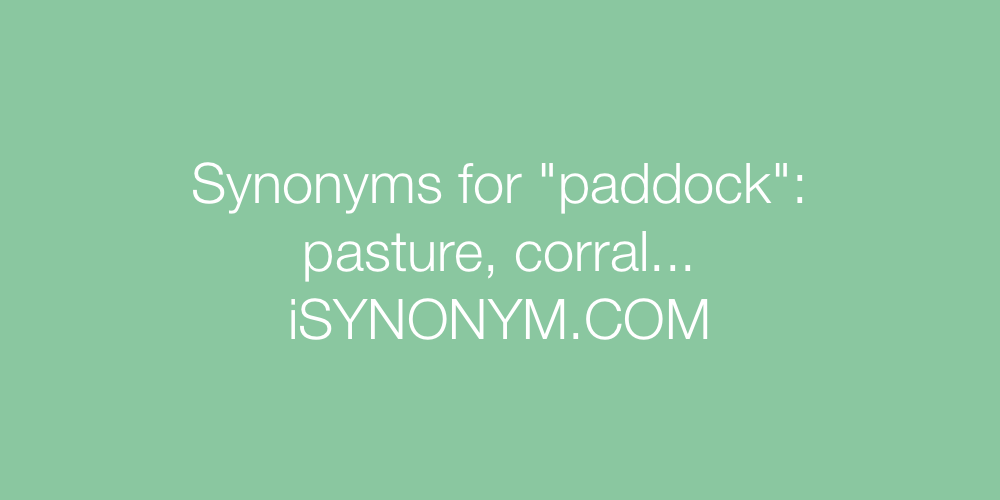 Synonyms paddock
