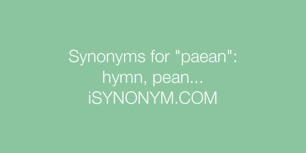 Synonyms paean