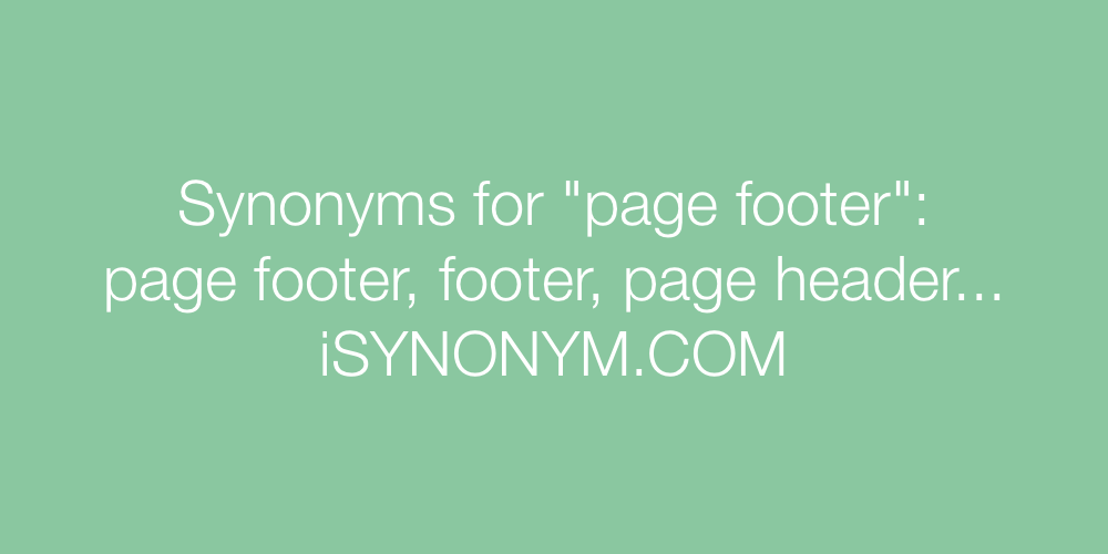 Synonyms page footer