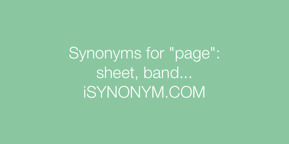 Synonyms page