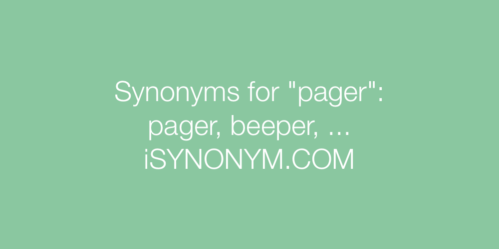 Synonyms pager