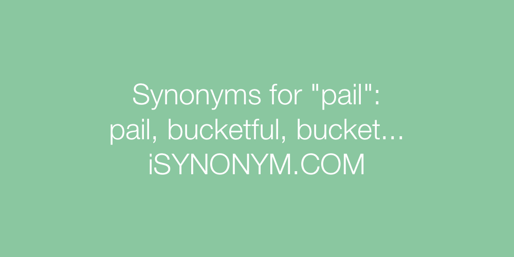 Synonyms pail