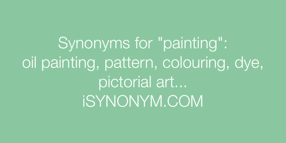 Synonyms painting