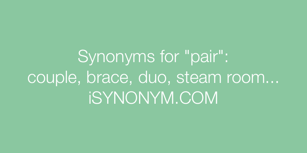Synonyms pair