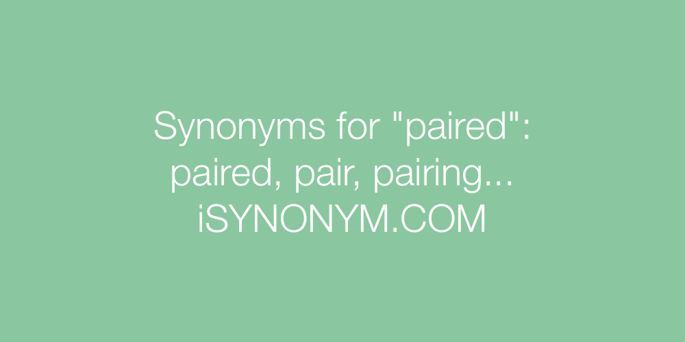 Synonyms paired