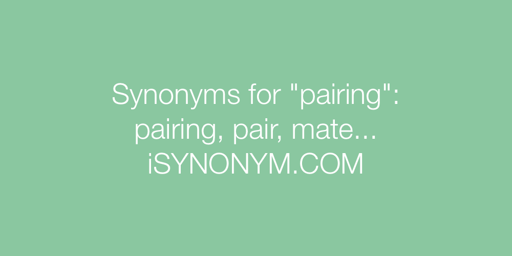 Synonyms pairing