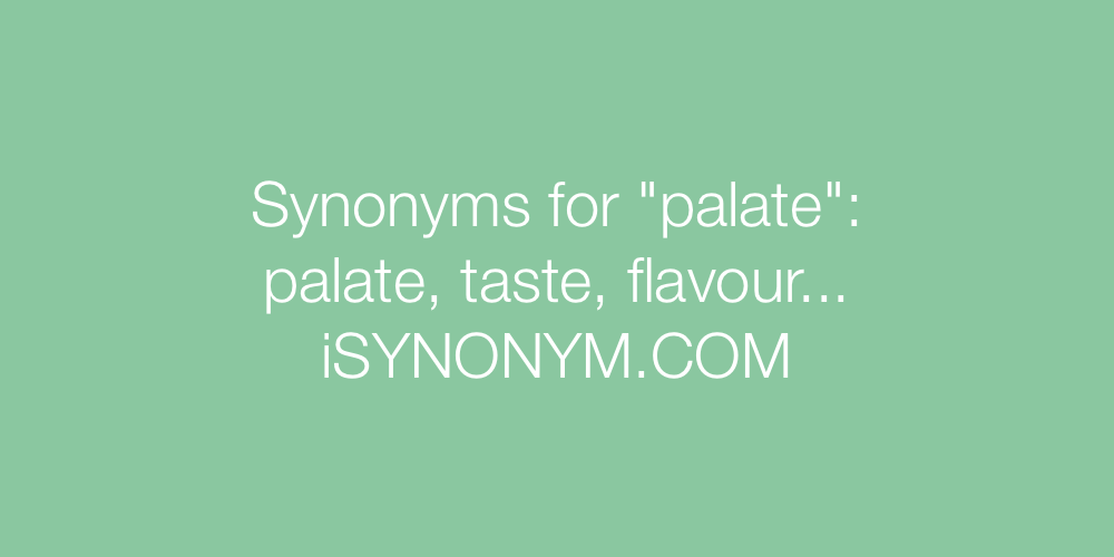 Synonyms palate