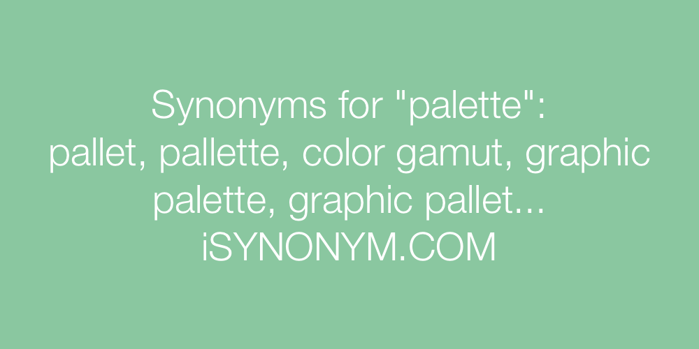 Synonyms palette