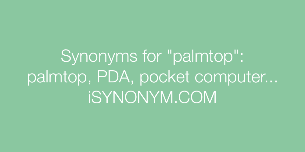Synonyms palmtop