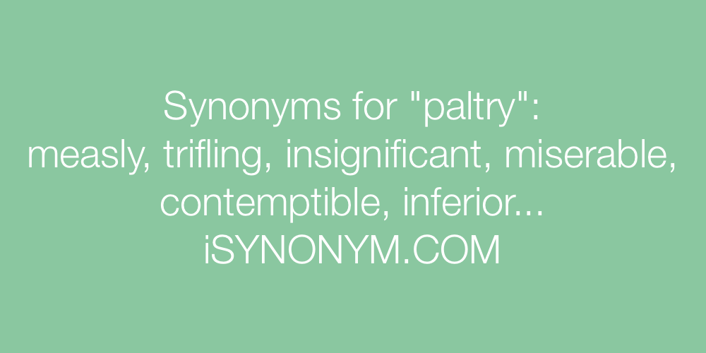 Synonyms paltry