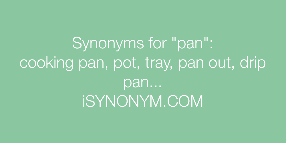Synonyms pan