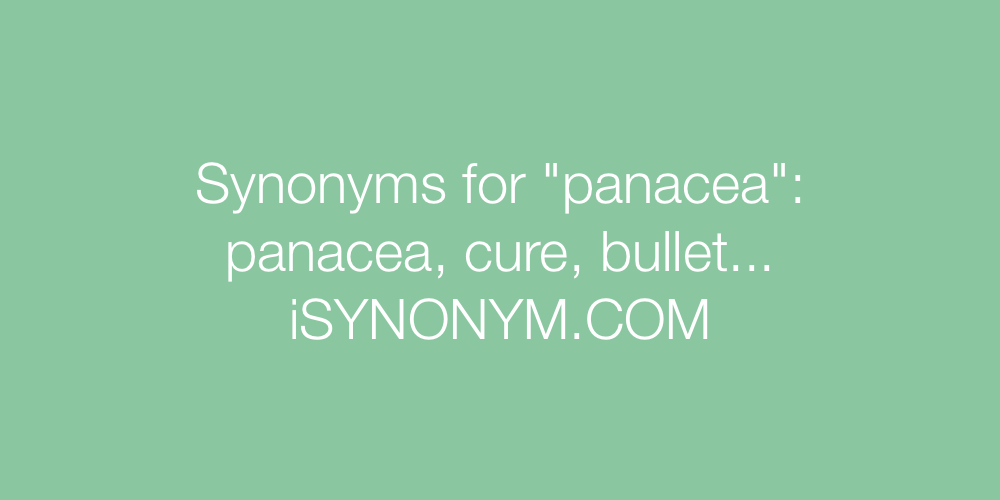 Synonyms panacea