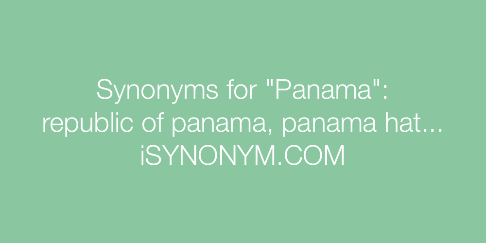 Synonyms Panama