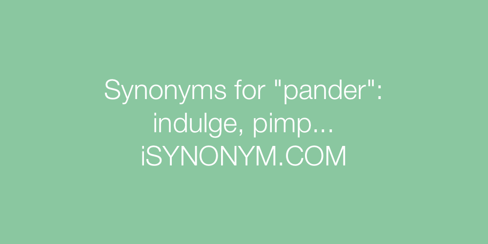 Synonyms pander