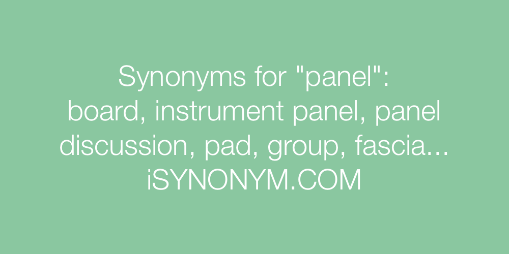 Synonyms panel