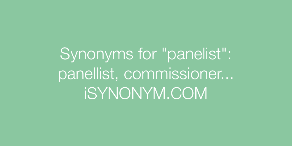 Synonyms panelist
