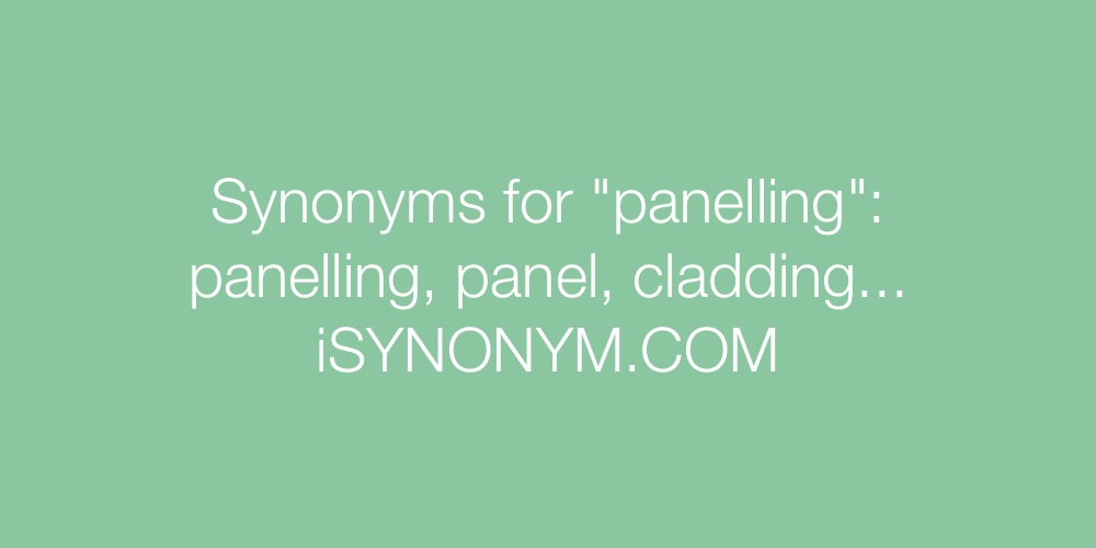 Synonyms panelling