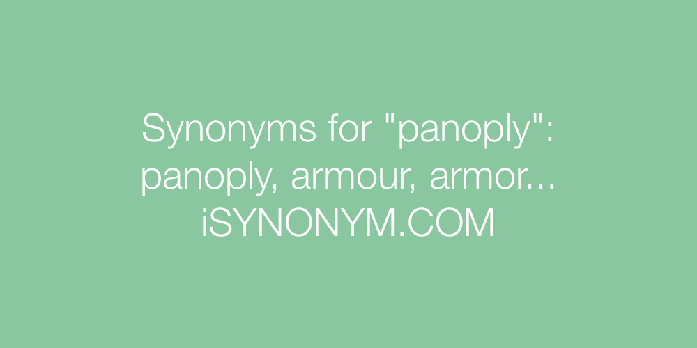 Synonyms panoply