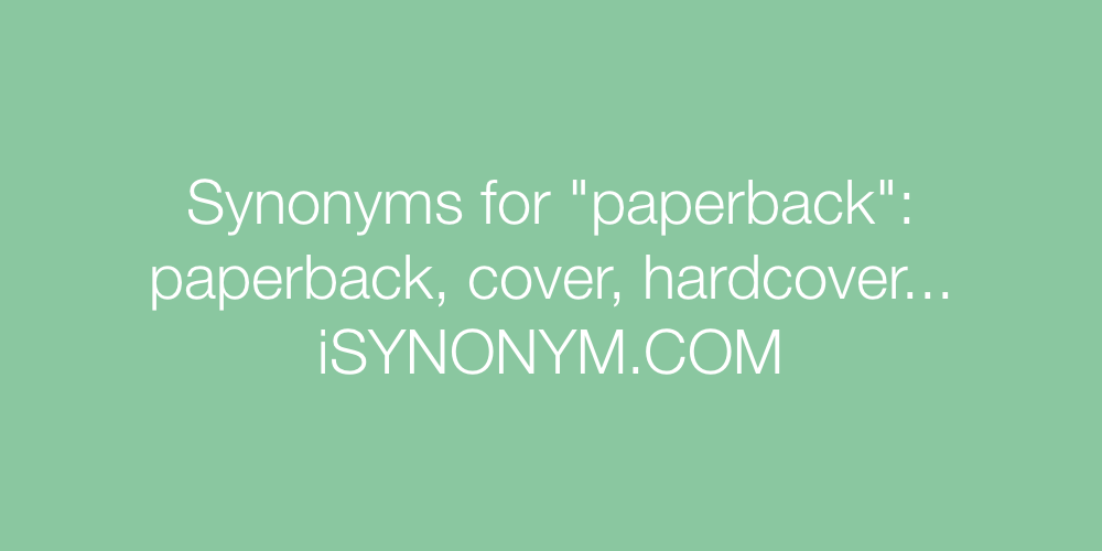 Synonyms paperback