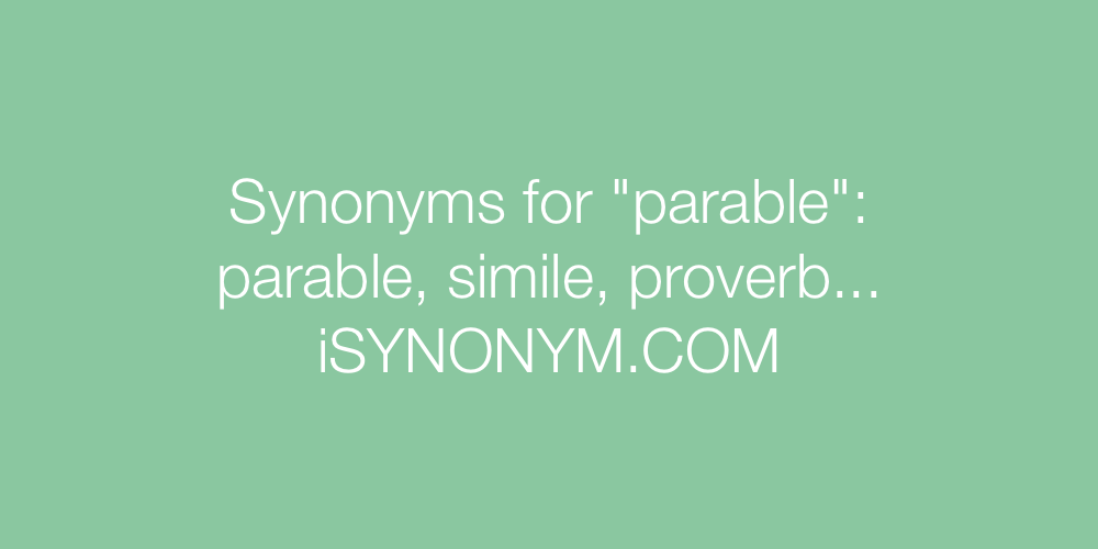 Synonyms parable