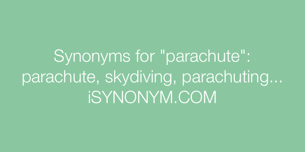 Synonyms parachute