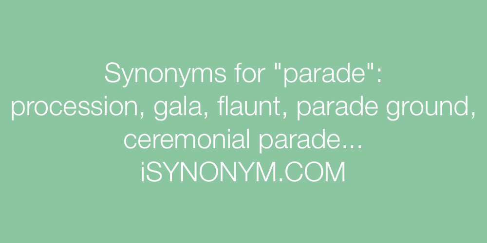 Synonyms parade