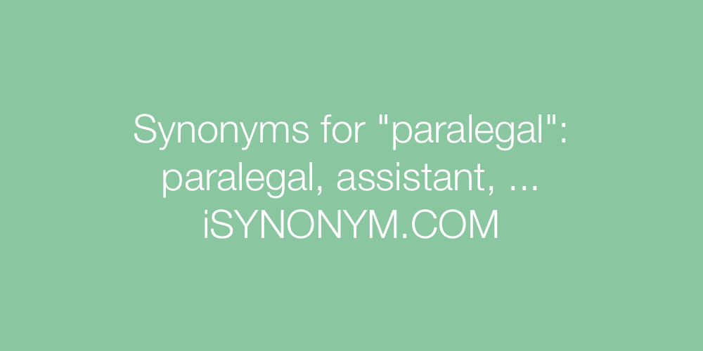 Synonyms paralegal