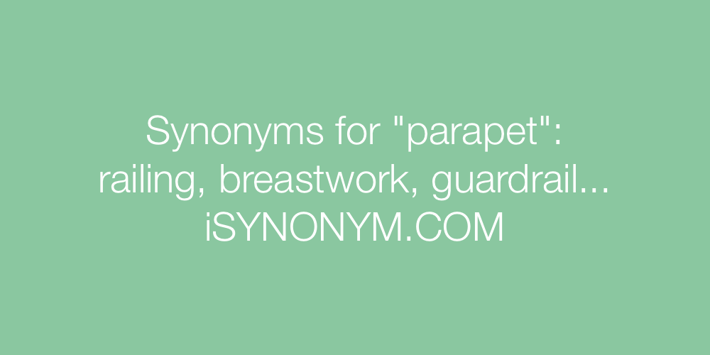 Synonyms parapet