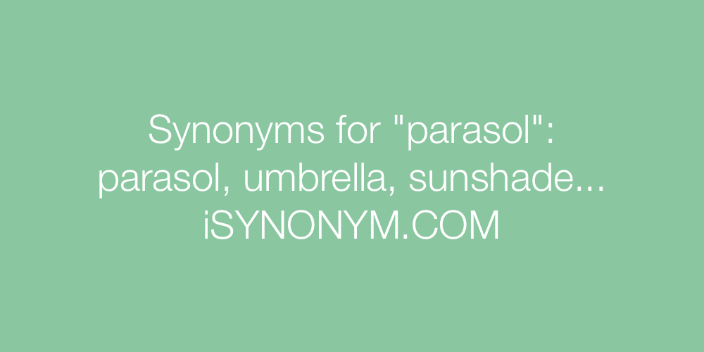 Synonyms parasol