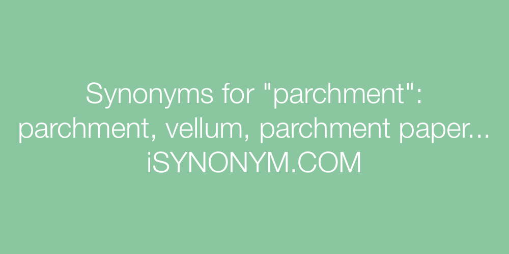 Synonyms parchment