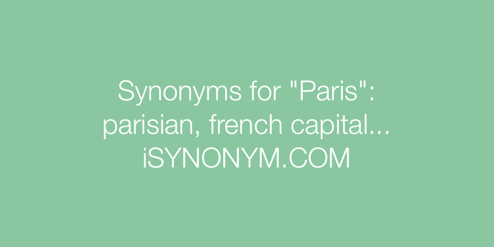 Synonyms Paris